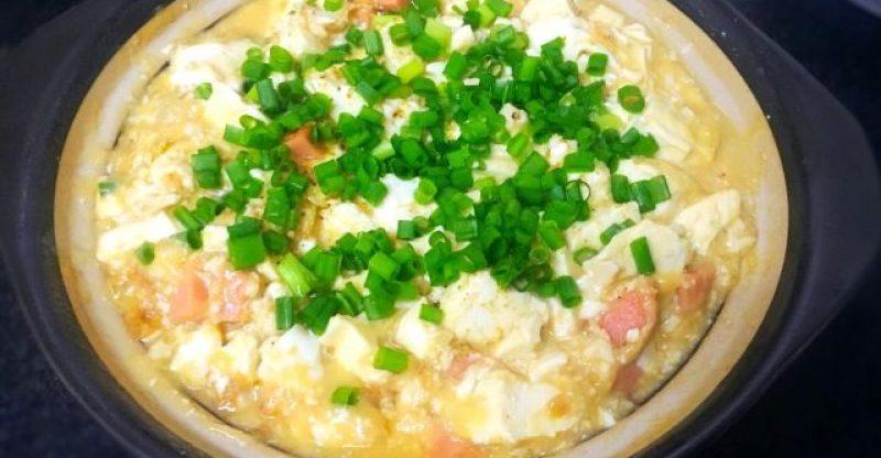 An Easy Tofu Recipe-Salted Duck Egg Stewed Tofu Step 8