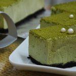 Matcha tofu mousse