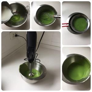 Matcha tofu mousse step 7