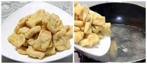 Marinated Tofu Step 1