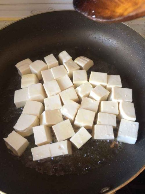 Pineapple fried tofu step 1